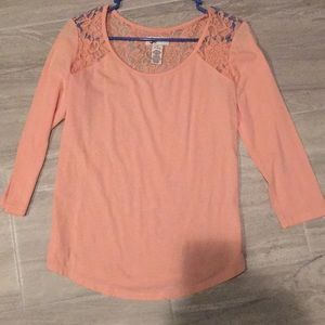 Full Lace Back Pink Shirt